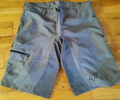 Fox Racing High Frequency Trail Riding Cycling Shorts Silver Slate 34 36 38 New • 37.99£