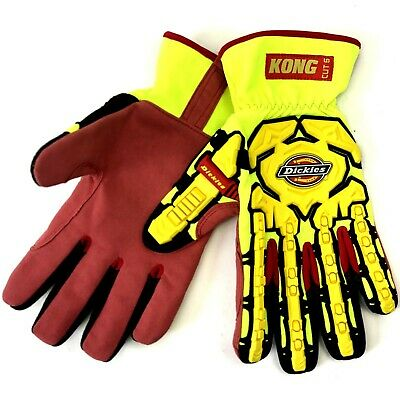 Builders Work Gloves Impact Cut Protection Heavy Duty Rigger Leather Hi Viz MTB • 9.95£