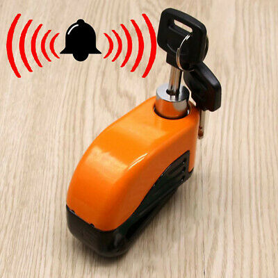 Heavy Duty Security Bike Bicycle Motorcycle Motorbike Disc Alarm Lock Orange • 12.99£