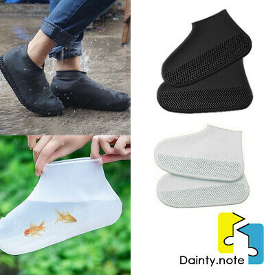 Recyclable Silicone Overshoes Rain Waterproof Shoe Covers Boot Cover Protector • 3.89£