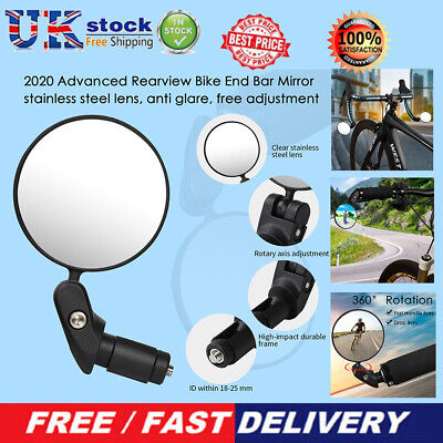Bicycle Foldable Handlebar Convex Rear View Mirror Mountain Bike Rearview Mirror • 6.79£