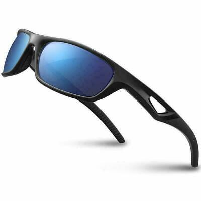 Polarized Sports Sunglasses Driving Glasses TR90 Unbreakable Frame Cycling Style • 10.98£