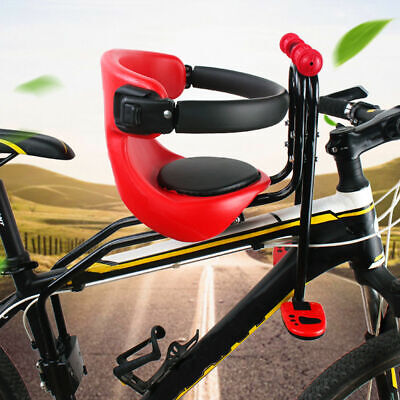 Child Bike Seat Front Mounting Bicycle Saddle Baby Kid Carrier Safety Buckle UK • 19.80£
