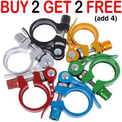 Bike Bicycle BMX MTB Quick Release Seat Post Anodised Alloy Clamp 34.9 Mm YY • 3.99£