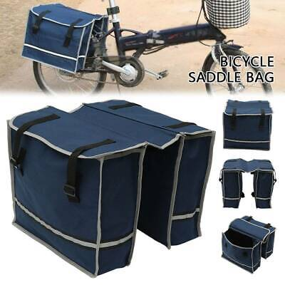 Double Panniers Bag Bike Bicycle Cycling Rear Seat Trunk Rack Pack Saddle Bag UK • 8.99£