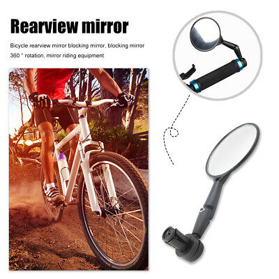 1pc Round Bicycle Handle Bar End Mirror 360 Rotating Bike Side Rearview Mirror • 3.19£