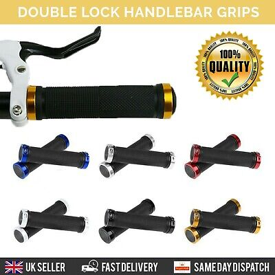 Double Lock On BMX MTB Bike Coloured Bicycle Scooter Handle Bar Grips Cycle • 4.69£