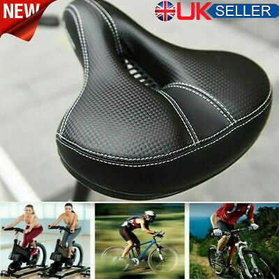 Most Comfortable Bike Seat For Mens Men Padded Bicycle Saddle With Soft Cushion • 10.69£