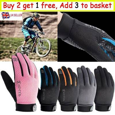 Anti-slip Cycling Gloves Touch Screen Full Finger MTB Bike Bicycle Cycle Mitts N • 5.95£