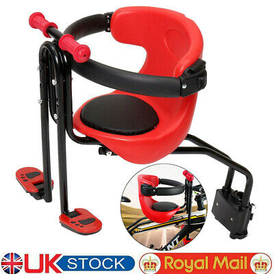 Child Kids Bicycle Bike Seat Front Carrier Seat Safety Stable Children Chair UK • 22.98£