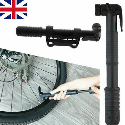 Cycle Pump (SUITS ALL VALVES) Mountain Bike BMX Bicycle T-BAR HANDLE Locks On UK • 5.99£