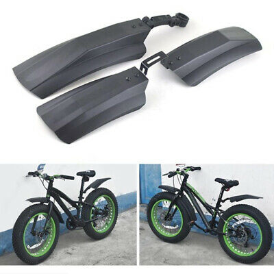 2PCS Snow Bicycle Mountain Bike Front Rear Mud Guard Fenders For Fat Tire HR • 7.87£
