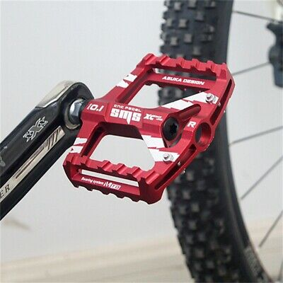 Mountain Road Bike Aluminum Alloy MTB Pedals Flat Platform Bicycle Pedal UK • 17.63£