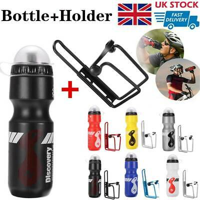 750ML Mountain Bike Bicycle Cycling Water Drink Bottle And Holder Cage Sport • 4.99£