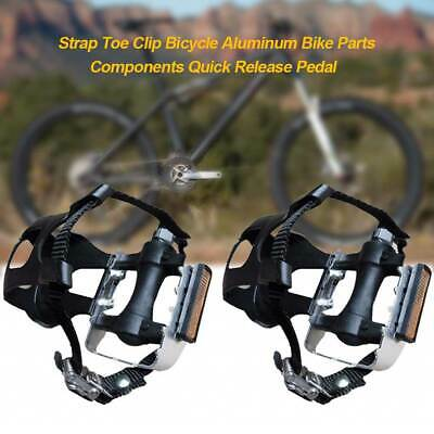 1 Pair Bike Cycling Bicycle Pedal With Toe Clips And Straps Lightweight MTB Road • 10.95£