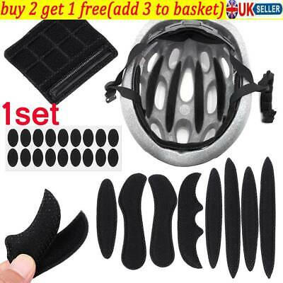 UK Cycling Replacement Protection Pad Helmet Inner Padding Kit Foam Pads Set • 3.69£