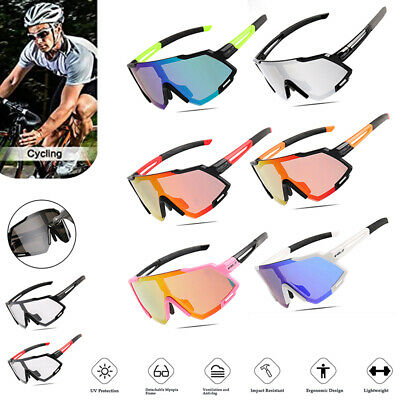 Photochromic Cycling Glasses Goggles Outdoor Sports Sunglasses Eyewear UV400 UK • 13.05£