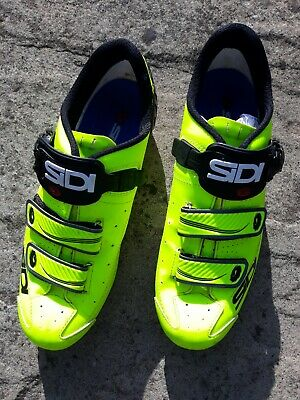 Sidi Alba Road Cycling Shoes, Yellow/black, Size EU 45 • 50£