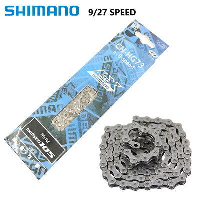 NEW Shimano HG73 9 Speed Chain Mountain Bike Chain Silver 116 Links UK 03 • 7.99£