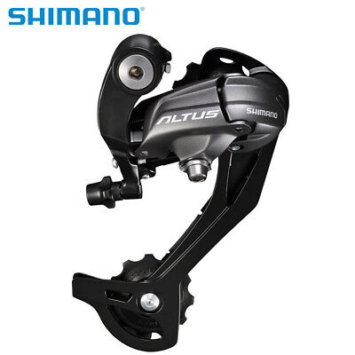 Shimano Altus RD-M370 9/27 Speed Rear Mech Derailleur Long Black 03 • 12.99£