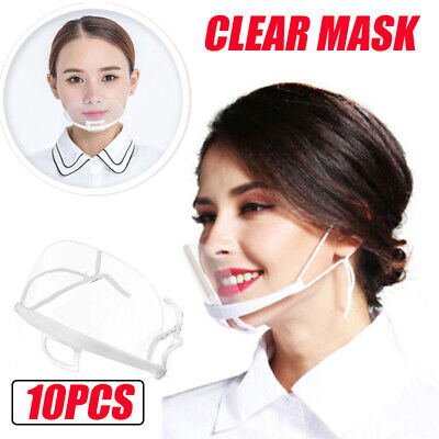 10pcs Face Shield Chin Mask Washable Nose Mouth Protection Dustproof Cycling Run • 4.73£