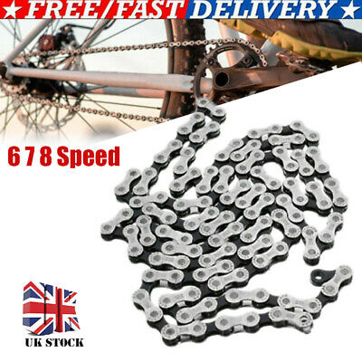 UK Speed 6/7/8 Gear Bicycle Chain Mountain Bike Road Hybrid Cycle Accessories • 5.99£