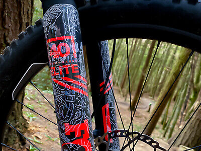 Gnartec Ride Hard MTB Front Fork Protector Sleeve Mountain Bike Protection • 29.99£