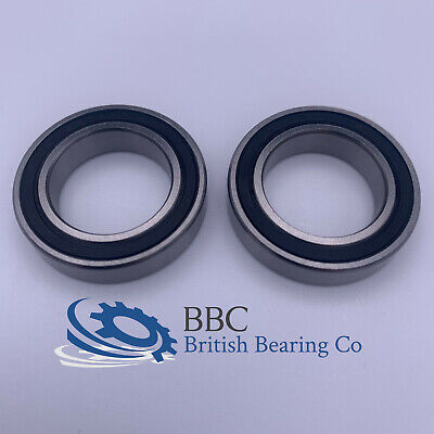 PAIR OF 6805RS (61805-2RS) THIN SECTION QUALITY BEARINGS 25x37x7mm • 4.95£