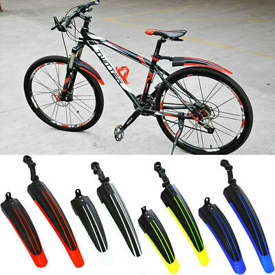 Bicycle Cycling Front Rear Mudguards Mud Set Mountain Bike Tire Fenders DIY UK • 6.99£