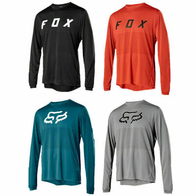 Mens Ranger LS FOX Jersey Long Sleeve Mountain Bike MTB Trail Bicycle Racing Top • 11.88£