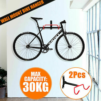 2Pcs Bicycle Wall Mount Storage Hanger Rack Steel Bike Hook Hanging Stand Garage • 14.99£