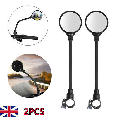 2X Cycling Convex Mirror Bike Bicycle Rear View Rearview Wide • 4.99£