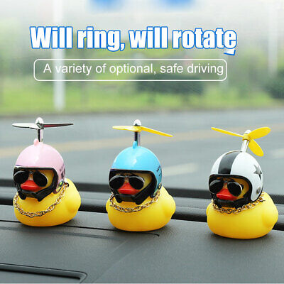 Car Bicycle Decorate Lovely Small Yellow Duck With Sound Helmet Outdoor Spor • 5.39£