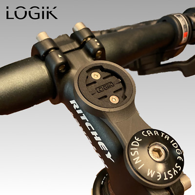 LOGIK Carbon Fixed Stem 1/4 Turn Mount For Garmin Edge Computers - Made In UK • 6.99£