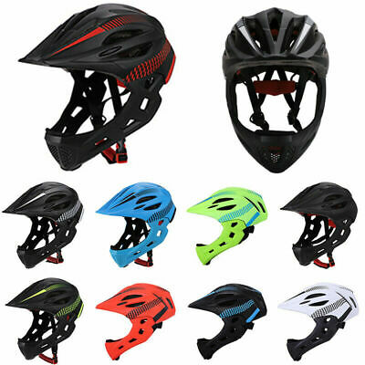 Kids Boys Detachable Full Face MTB Bike Helmet Cycling Scooter Sports Safety • 23.99£