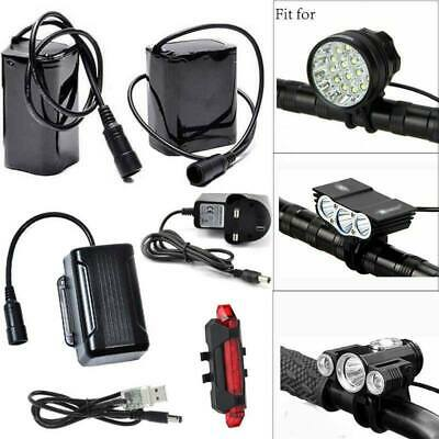 8.4V Rechargeable Battery Pack UK Plug For CREE T6 LED Bike Bicycle Head Light • 17.99£