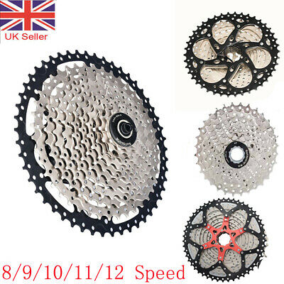 8/9/10/11/12 Speed MTB Mountain Bike Bicycle Cassette Sprocket Freewheel 11-52T • 34.99£