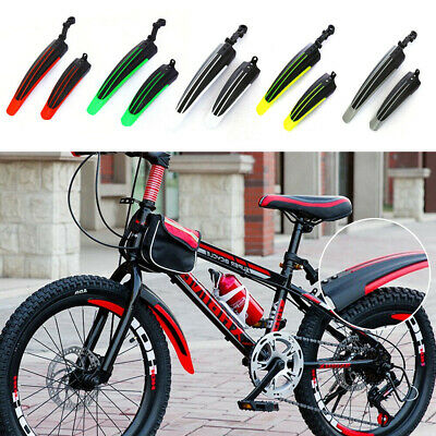2x Easy Fix Bicycle Mudguards Moutain Bike Front Rear Tire Mud Guard Fender • 7.80£