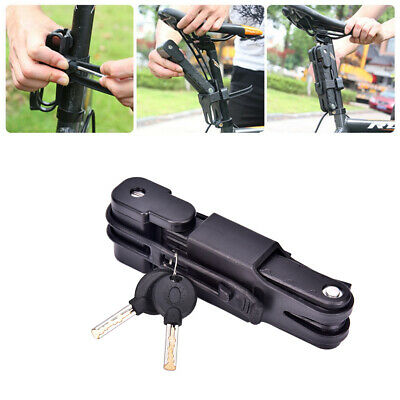 Folding Bicycle Cable Lock Steel Bike Security Anti-Theft Combination Road • 8.34£