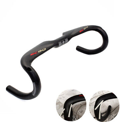 EC90 Carbon Bicycle Handlebar Road Bike Racing Drop Bar 31.8*400/420/440mm Black • 38.19£