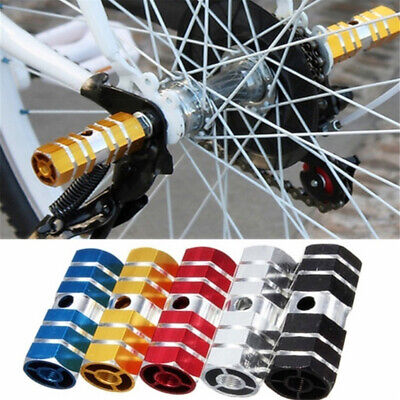 BMX Bicycle Cycle Bikes Hexagonal Stunt Pegs Alloy Anodised Colour Wheel Tyre • 5.99£