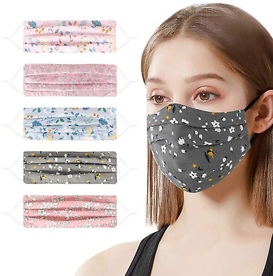 HJSS 5 Pack Face Reusable Washed Anti-dust Mouth Face For Men & Women Fashion • 13.14£