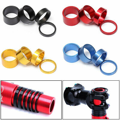 4Pcs/Kit Bicycle Headset Spacer Road Bike Headset Washers Front Stem Fork Spacer • 5.18£