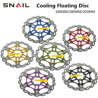 Snail MTB Mountain Bike Cycling Brake Disc Floating Rotor 160/180/203mm Rotors • 8.89£