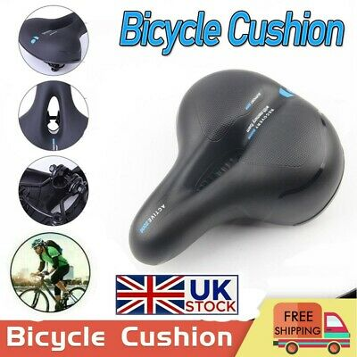 Wide Extra Comfy Bike Mountain Bicycle Gel Comfort Sporty Soft Pad Saddle Seat • 7.99£
