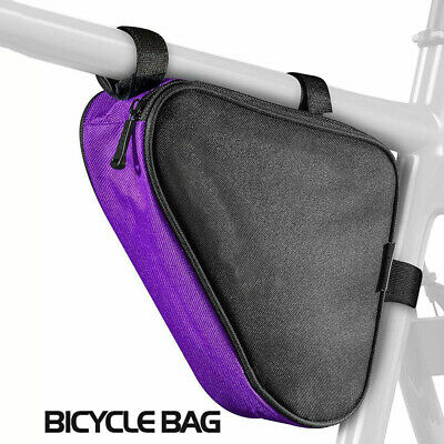 Adjustable Bicycle Bikes Storage Bag Triangle Saddle Frame Cycling Pouch • 9.72£