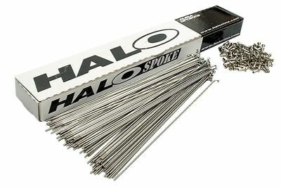 HALO AURA Stainless Steel BMX Spokes - Box Of 100 • 29.95£