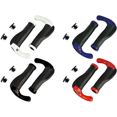 Mountain Bike Handle Bar Grips Double Lock On MTB BMX Bicycle Cycle + Ends • 5.99£