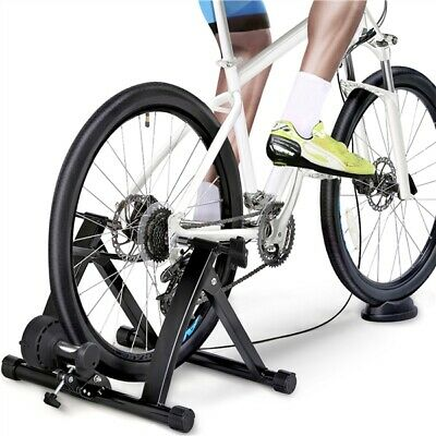Black Pro Turbo Trainer Magnetic Indoor Bike Trainer For Road/Mountain Bicycle • 62.99£