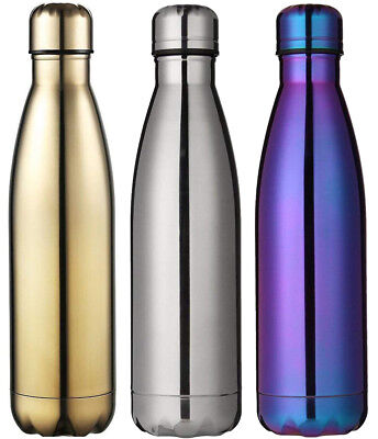 500ML Double-Walled Stainless Steel Vacuum Insulated Drinking Water Bottle Flask • 7.99£